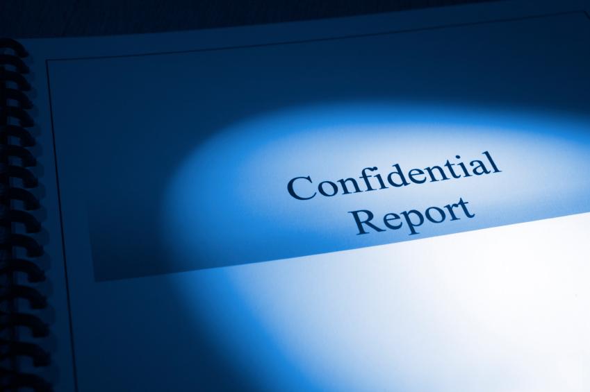 Confidential Report Blue Tone Brochure